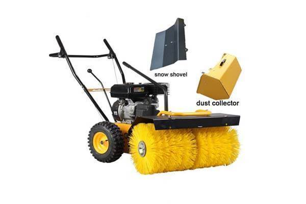 metal dust street sweeper