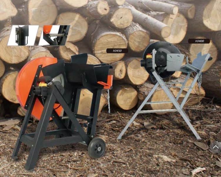 Picture log cutting saw
