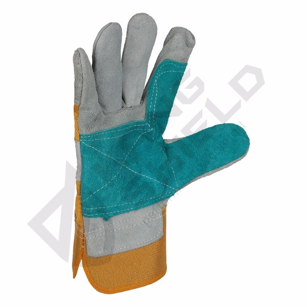 Cow leather canvas gloves Import