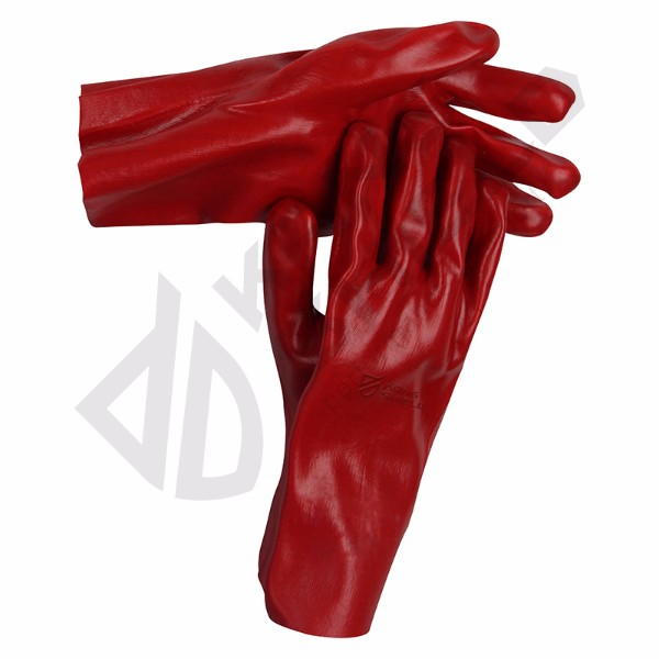 Good Supplier Red PVC gloves