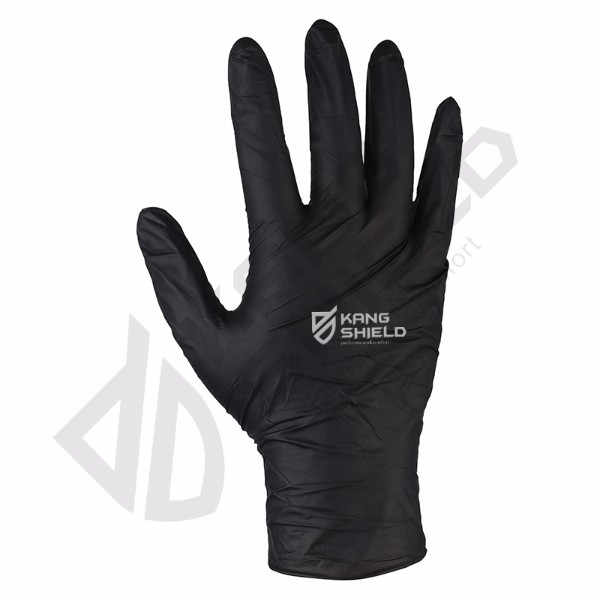 Best Price Nitrile light black gloves