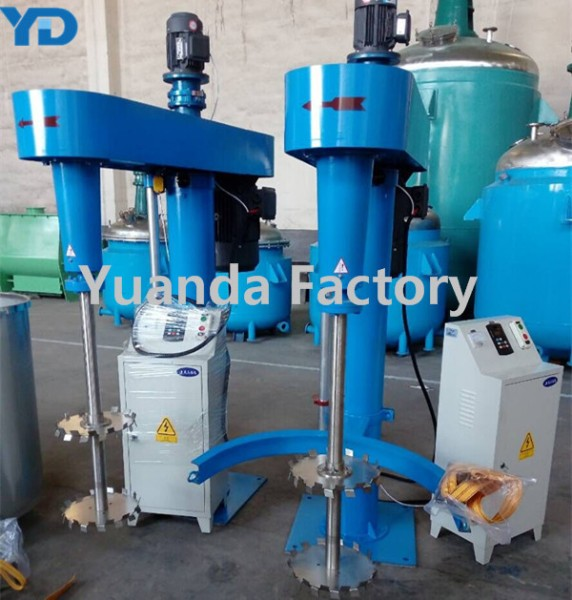15HP High Speed Disperser with 500L Mixing Vessel for paint