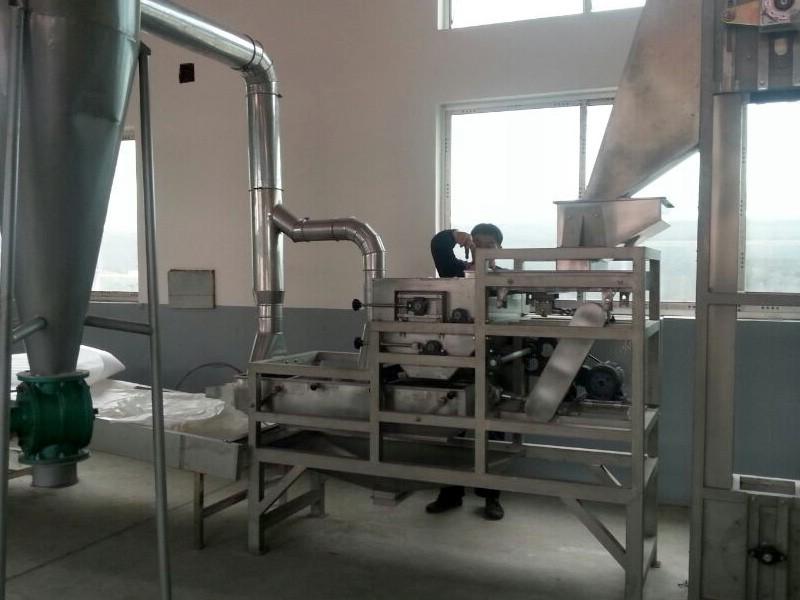 Split peanut processing unit