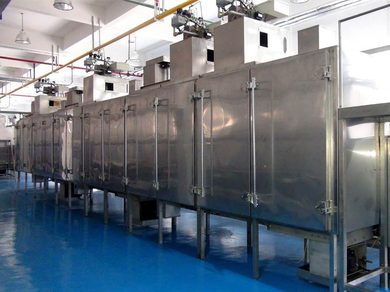 Composition of flavored nut processing line