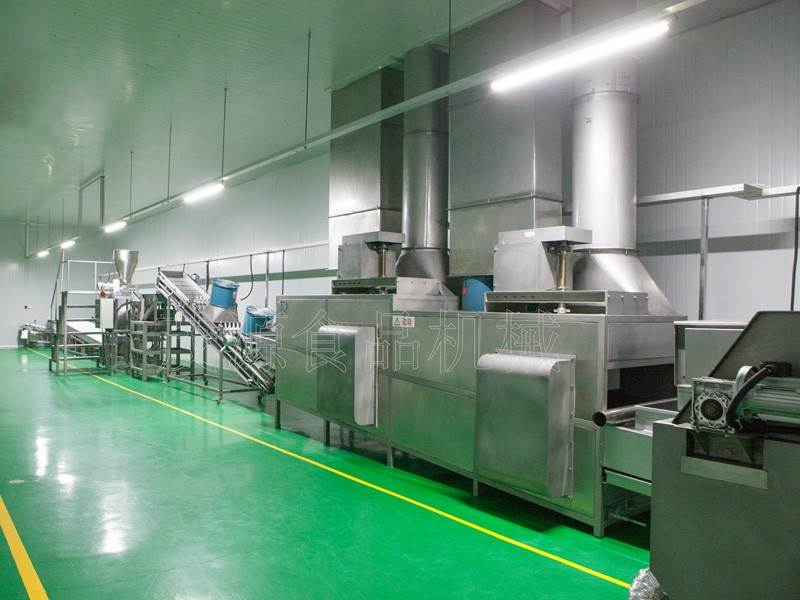 Continuous Frying Peanut Production Line