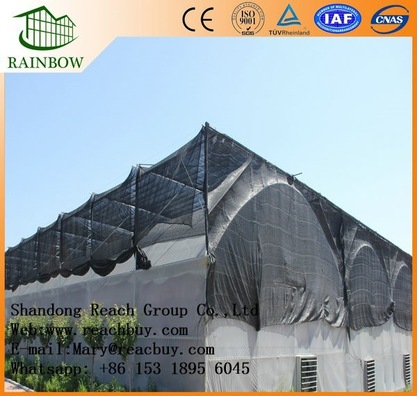 High Class Quality Multi span arch type film greenhouse