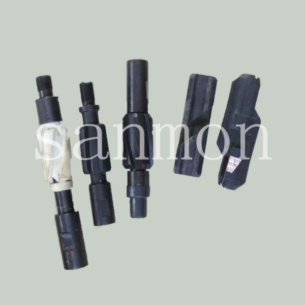 Sucker rod abrasion proof abrasion centralizer  single slot sucker rod poly guide