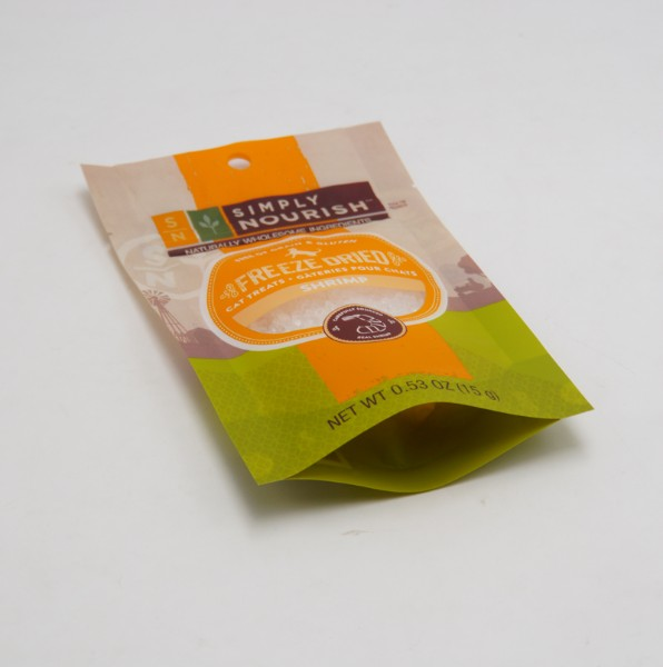 cat treat stand up pouch