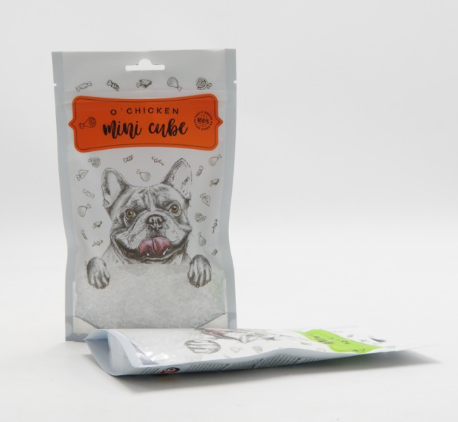dog snack stand up pouch