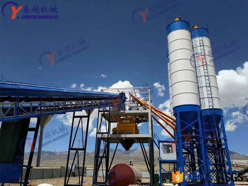 china high quality concrete mixing plant in Ethiopia