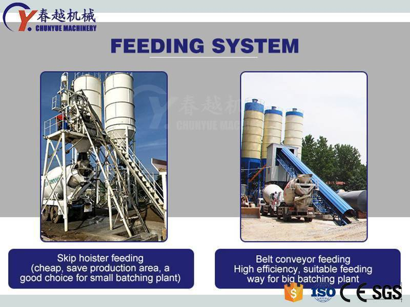 made in china concrete batching plant feeding system