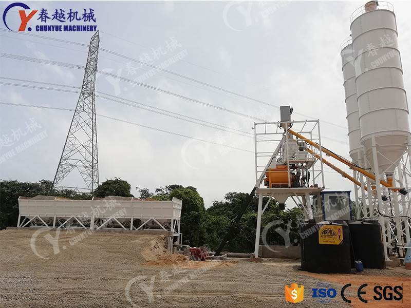 made in china electric concrete mixing plant