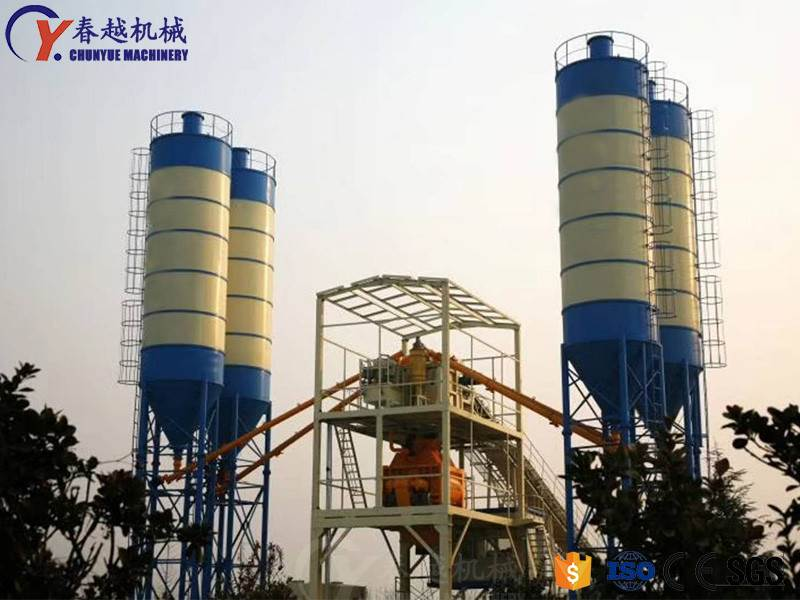 china exporter concrete mixing plant factory