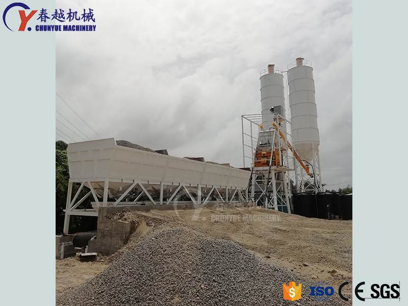 china exporter concrete mixing plant layout drawing
