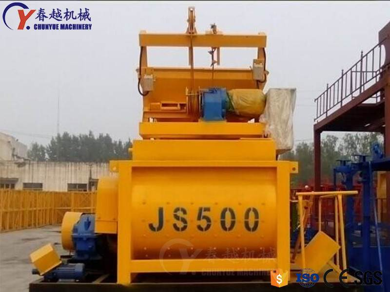 China JS500 concrete mixer price