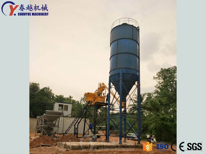 china electric concrete mixing plant