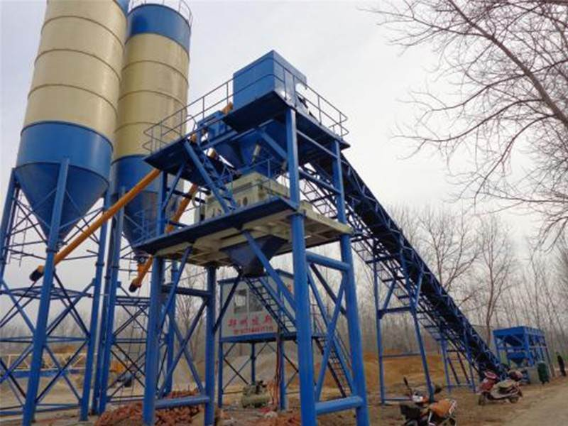 What are the safety device inspection regulations for concrete mixing station