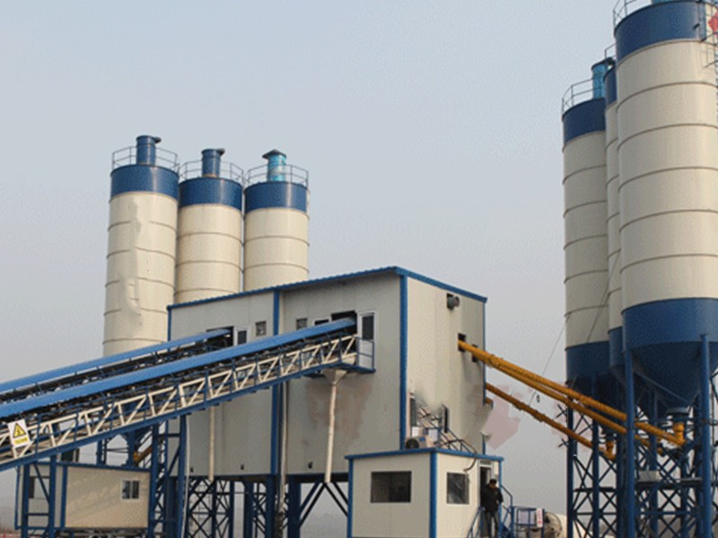 China installation of concrete batching plant