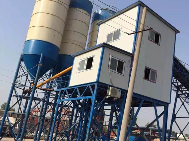 HZS240 concrete mixing plant in Burma Myanmar