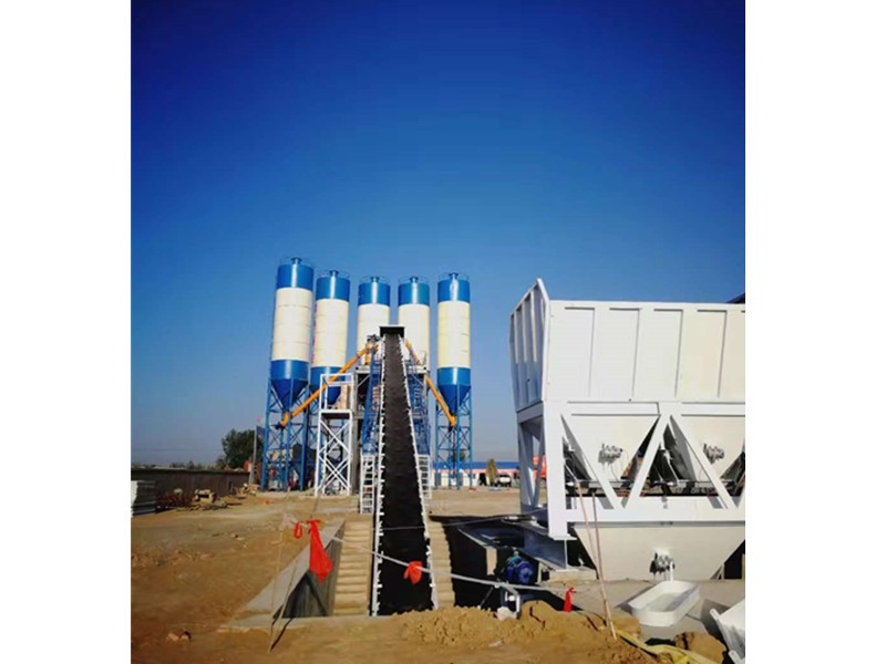 How does China's small concrete mixing station work