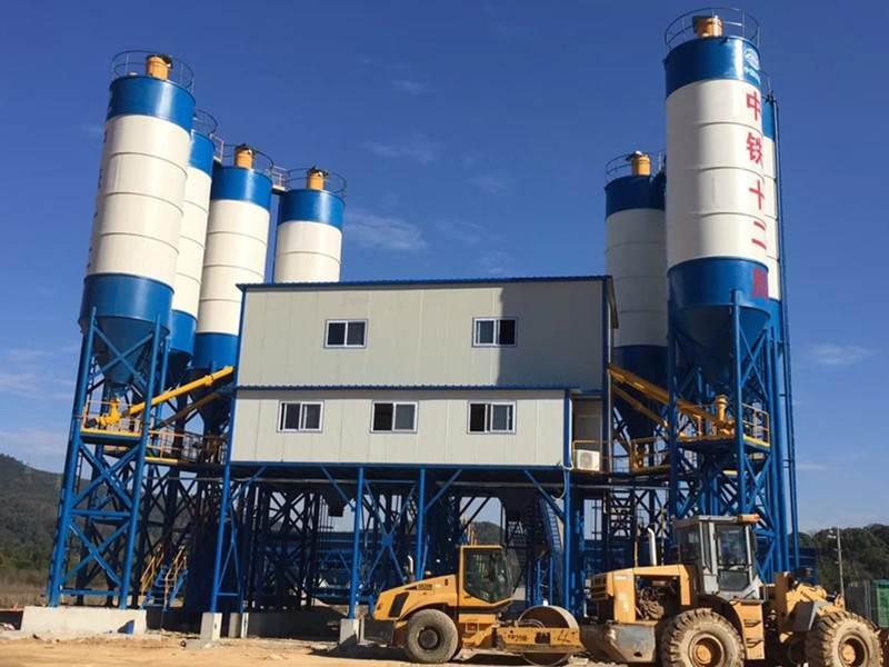 China concrete mixing plant in Romania