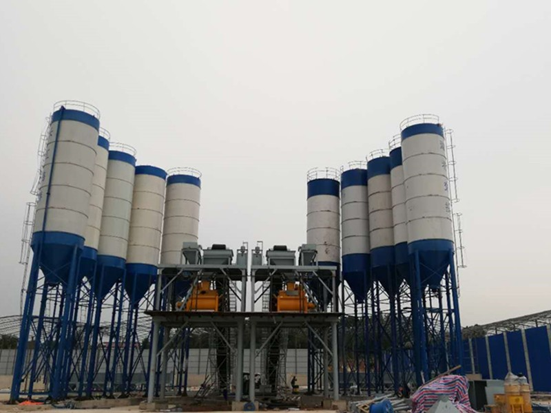 China hzs50 concrete mixing plant price