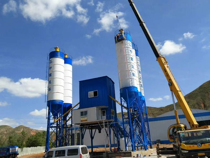 concrete mixing plant in Indonisa Good Quality