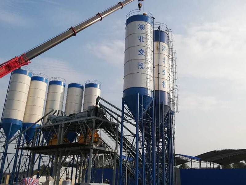 China HZS60 concrete mixing plant Effect