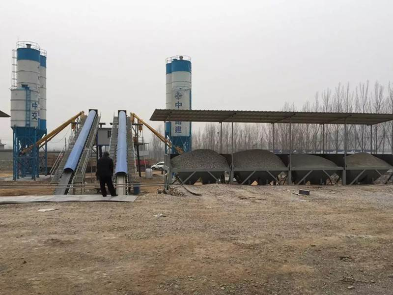 HZS series concrete mixing plant in Russia