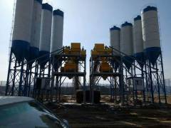 China hzs180 concrete mixing plant Effect