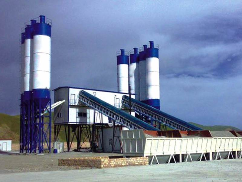 China hzs150 concrete batching plant