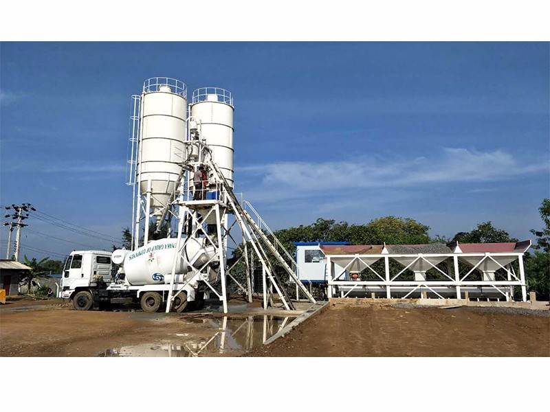 China hzs25 concrete batching plant