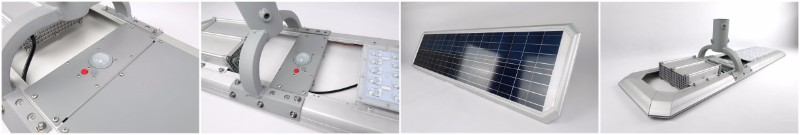 30W modern integrated solar street light with pole