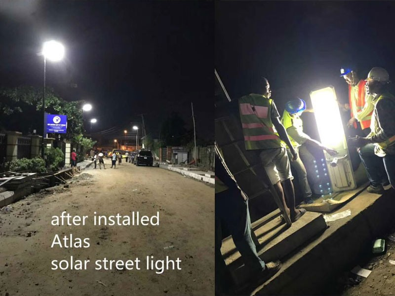 80w integrated solar street light with pole