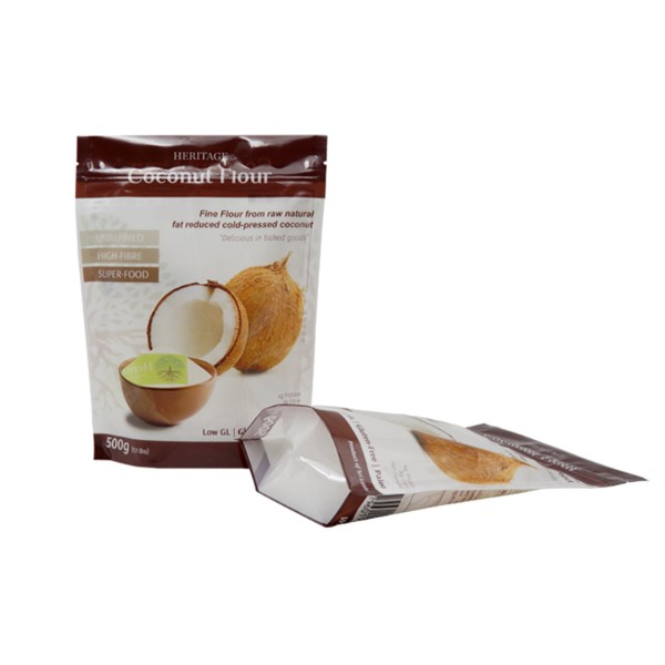 made in china coconut flour stand up bag