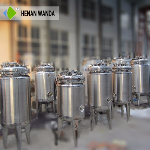 Top Grade Quality 316 stainless steel jacketed pot reactor