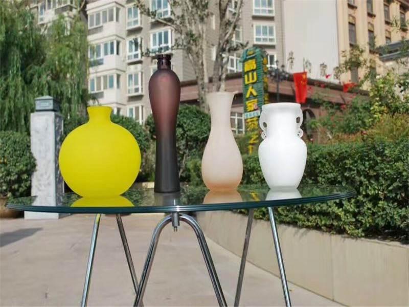 china Etching Glass Powder flate glass
