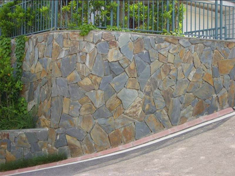 slate garden wall blocks