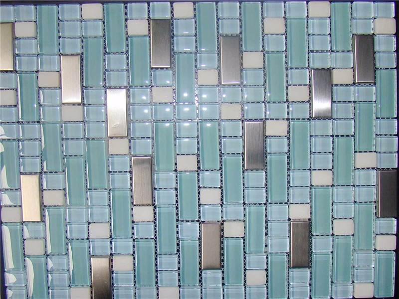 china Cheapest Price slate glass mosaic
