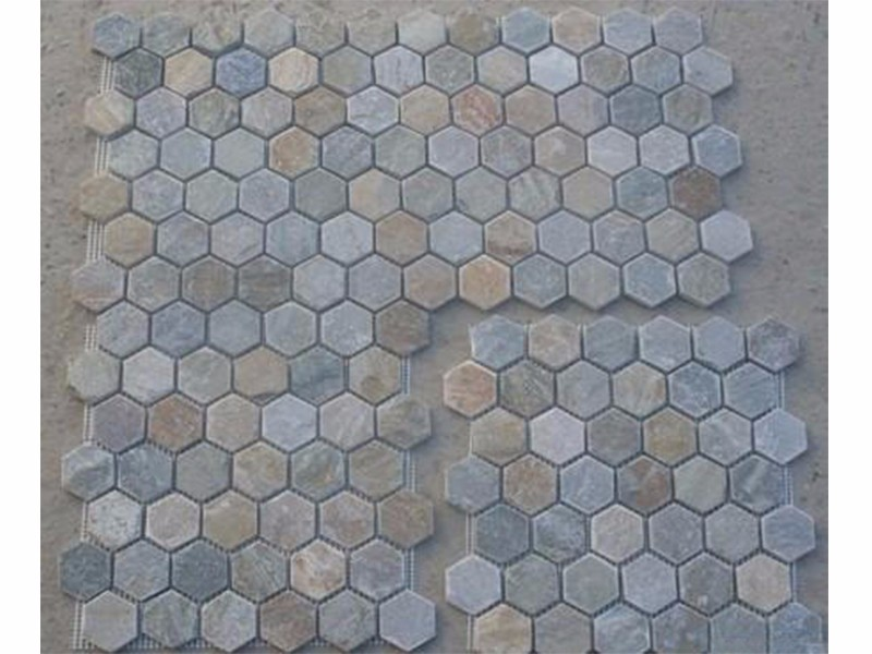 made in china CIF Price slate mosaic tiles