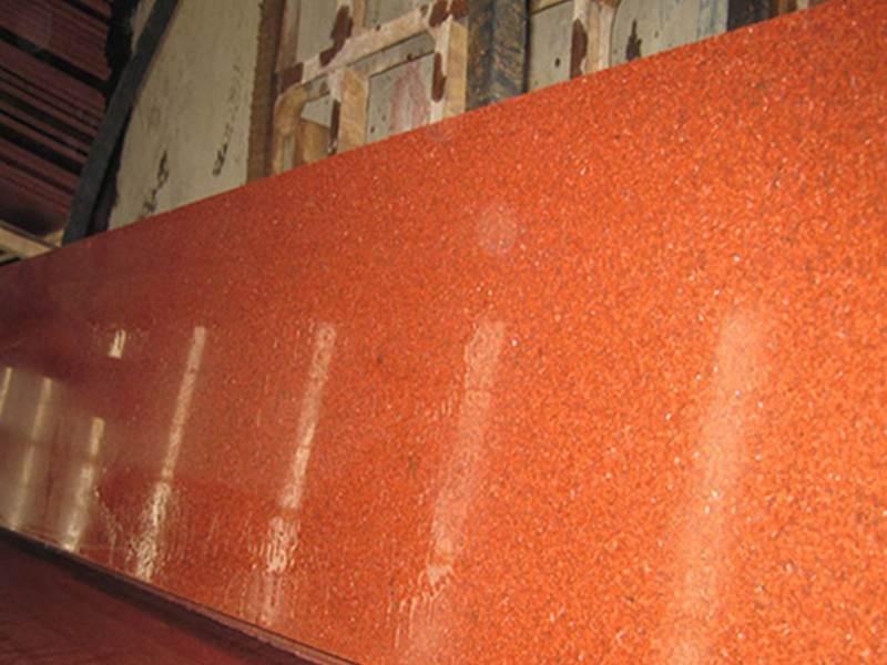 dyed red granite