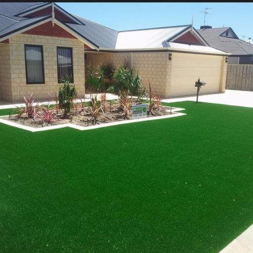 20mm pile height artificial grass garden designs