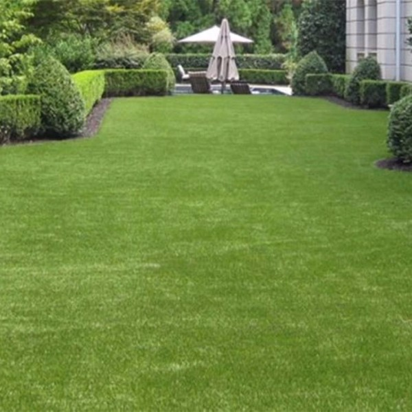 25mm pile height artificial grass garden ideas