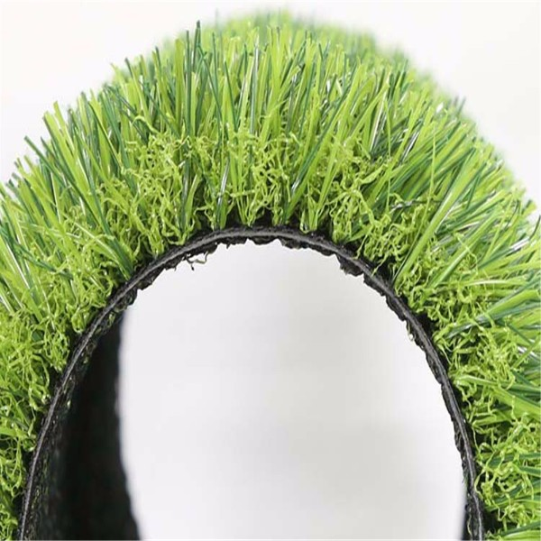 green artificial grass fence