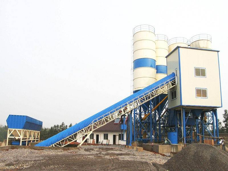 HZS75 medium concrete mixing plant