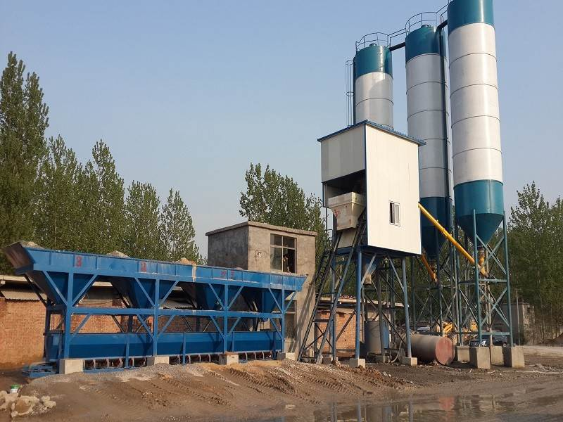 HZS75 medium concrete mixing plant Picture