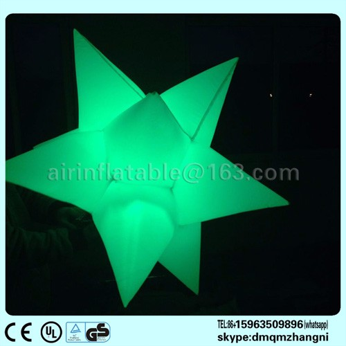 Inflatable star with led light