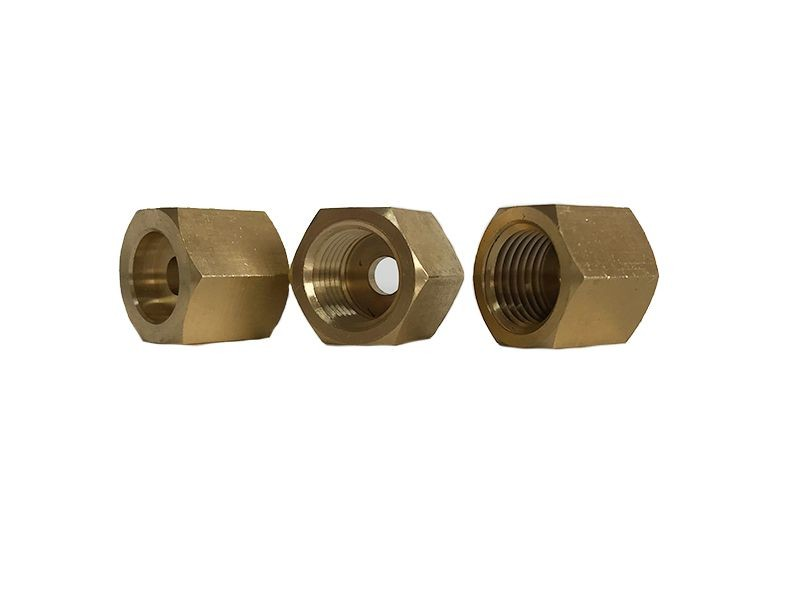 non-standard brass  fastener and nut