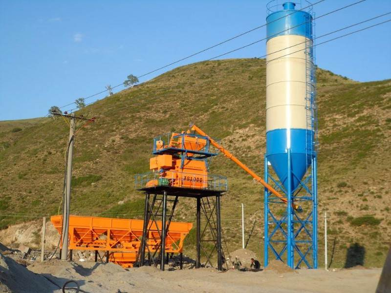 concrete batching plant low price