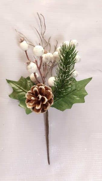 artificial christmas flowers and foliage